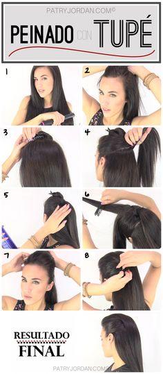 DIY: Peinado con tupé. Hazlo tu misma siguiendo los pasos de este tutorial. Es super fácil y rápido de hacer.