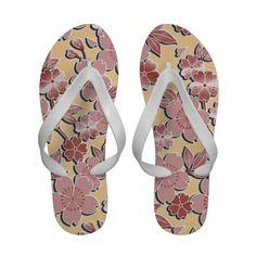 Beautiful cherry blossoms flip  flops