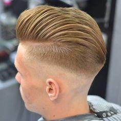 Razor Faded Comb Over