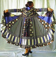 Gypsy Patchwork Sweater Wool Dress Boho Jacket Hippie Chic Ooak Enchanting Bohemian Coat, via Flickr.