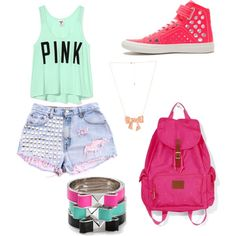 I love this summer outfit! Everything, but the shoes and bracelet!