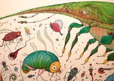 Whimsical Illustrations by Vorja Sánchez art design artwork animals illustration drawing painting