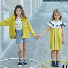 Palazzo della Civilta' Italiana, Roma : Dallo shooting della nuova collezione per Fendi Kids - MiniMe MiniModels 👭👏