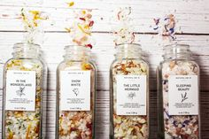 Practice a Bit of Self Care With These Fairy Tale Bath Salts - beauty - Rose Geranium Essential Oil, Tangerine Essential Oil, Jasmine Essential Oil, Clary Sage Essential Oil, Cedarwood Essential Oil, Bergamot Essential Oil, Grapefruit Essential Oil, Kukui Oil, Dried Rose Petals