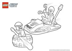 Lego City Police coloring pages – baby toys Bloğ