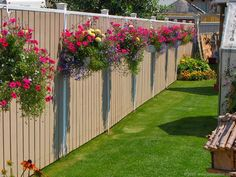 15 Fence Planters That'll Have You Loving Your Privacy Fence Again - Garden Lovers Club diy garden design 15 Grand Ideas For Gardening With Antiques Privacy Fence Landscaping, Backyard Privacy, Backyard Fences, Backyard Landscaping, Landscaping Ideas, Modern Backyard, Backyard Designs, Pool Fence, Fenced In Backyard Ideas