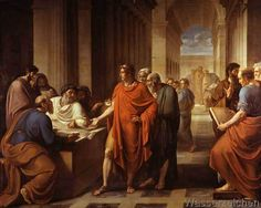 Vincenzo Camuccini - Ptolemy II Philadelphus founds the Library of Alexandria