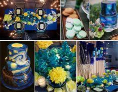 prom dress: Starry night theme wedding inspirations