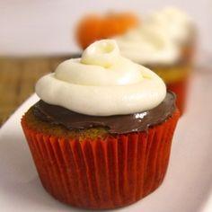 Pumpkin Nutella Cupcakes by cookingandbeer