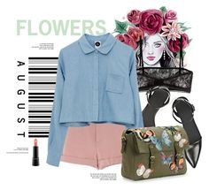 """""""Crown Of Flowers"""" by leticia-siana ❤ liked on Polyvore featuring Valentino, Alexander Wang, MAC Cosmetics and valentino"""