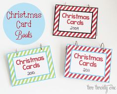 Hey friends! In case you missed it last week, I shared my Christmas card books over at IHeart Organizing. I showed how I made them, and I created a few 6 inch by 8 inch covers for the Christmas card books, which you can download for free. My Christmas gift to you. Ho, ho, ho.