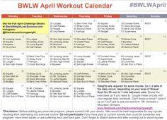 April Workout Calendar