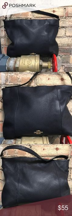 """Coach Isabelle hobo Isabelle Leather Convertible  Hobo Bag 14""""L x 3""""H x 11""""W  - no long leather strap. Some wear on handle - see pictures. No stains or other wear. No low balls please! Coach Bags"""