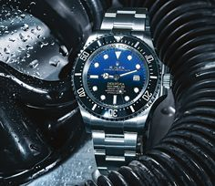 Rolex Deepsea dive watch - thanks to a special case, the Deepsea can reach an underwater depth of meters Rolex Dive Watch, Cool Watches, Rolex Watches, Most Expensive Rolex, Royal Canadian Navy, Watch The Originals, Submariner Date, Sea Dweller, Mechanical Watch
