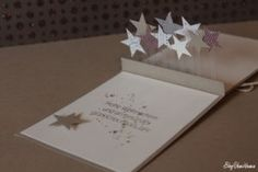 Bin ich eine Pop Up Karte - Paper Ideas 3d Cards, Pop Up Cards, Birthday Gifts For Her, Birthday Cards, Pop Up Karten, Christmas Diy, Christmas Cards, Tarjetas Pop Up, Kirigami