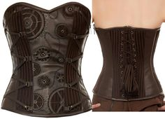 Ethereal Threads black gears corset