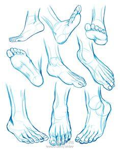 脚部的画法_手绘吧_百度贴吧