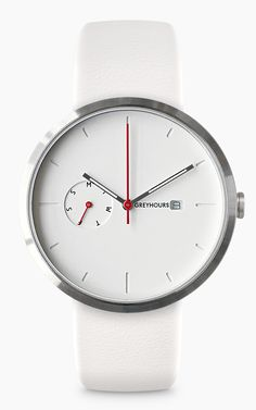 I don't normally like white watches but this one is pretty nice. GREYHOURS / All our collections