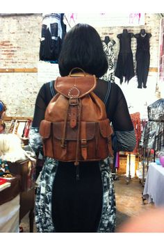 Leather Backpack by Leatherfinerwork on Etsy