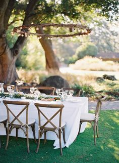 Lighting can make all the difference in setting the mood for outdoor gatherings. Thissimple chandelier is a cinch to make—all you'll need are branches from your garden and about$25 dollars in sup...