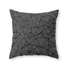 Society6 Abstraction Linear Throw Pillow Indoor Cover (18…
