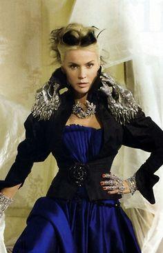 Couture Artists ~ Theatrical Daphne Guinness www.MadamPaloozaEmporium.com www.facebook.com/MadamPalooza