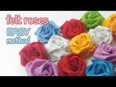 Rose in pannolenci attorcigliate - Tutorial