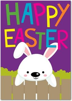 Easter Cards Peeking Bunny - From treat.com