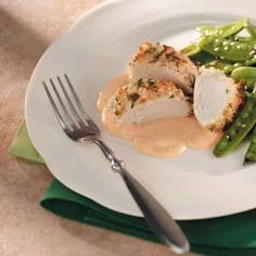 Looking for a low-carb entree ideal for company? Consider this specialty. It won a local recipe contest and was featured on a restaurant's menu. The creamy sauce adds a flavor punch. —Ellen Cross, Hubbardsville, New York Turkey Tenderloin Recipes, Turkey Recipes, Low Calorie Recipes, Healthy Recipes, Healthy Habits, Grilling Recipes, Cooking Recipes, Great Recipes, Favorite Recipes