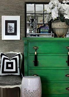 Green, Black U0026 White Schlafzimmer, Wohnzimmer, Wohnung Gestalten, Schöne  Zuhause, Innendesign
