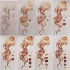 Drawing Hair Techniques Coloring hair with copics~ Tools used are copic multiliner in sepia, copic sketch markers and white gel pen. Hope it helps! Marker Kunst, Copic Marker Art, Copic Art, Copic Sketch Markers, Copic Kunst, Copic Markers Tutorial, Copic Drawings, Coloring Tutorial, White Gel Pen