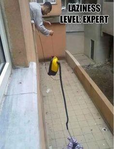 Vacuum Hack   17 Laziest Life Hacks Ever