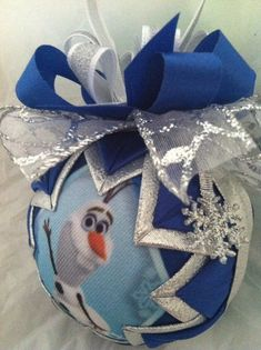 Disney's Frozen Inspired Olaf Snowman Quilted Star Christmas Ornament on Etsy, $20.00