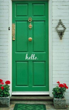 Green! Door Paint Theory - Dahlias and Dimes