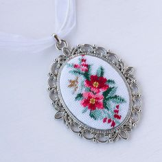 Embroidered wild rose necklace Botanical jewelry, Embroidery red flower necklace Petit point pendant for women - Hand embroidered jewelry pendant Petit point embroidery - Jewelry Logo, Pendant Jewelry, Etsy Jewelry, Pendant Necklace, Womens Jewelry Rings, Women Jewelry, Jewelry Bracelets, Hand Jewelry, Flower Jewelry