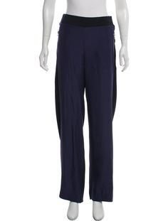 fd6dc34e5524b Blue Dion Lee high-rise chevron pants with elasticized band at waist, dual  pockets