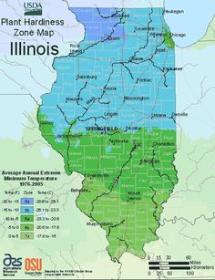 Illinois Growing Zones Map