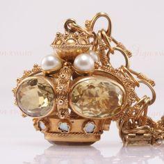 Citrine Jade Blood Coral Rose Gold Charm Bracelet