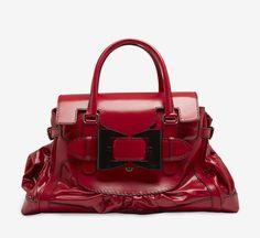 Gucci Red And Black Handbag