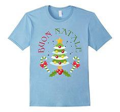 Mens Buon Natale Merry Christmas Italian Italy Gift T-Shirt 2XL Baby Blue