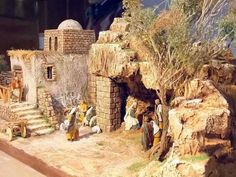 More catachan and tallarn terrain and buildings Christmas Drama, Christmas In Italy, Christmas Nativity Scene, Christian Christmas, Christmas Villages, A Christmas Story, Christmas Art, All Things Christmas, Nativity Scenes