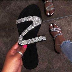 Bling Sandals, Cute Sandals, Open Toe Sandals, Cute Shoes, Women's Shoes Sandals, Heels, Flat Sandals, Women Sandals, Shoes Women