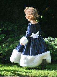 Little Eglantine - Winter flower girl dresses