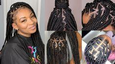 15 Top Triangle Part Box Braids That Will Take Your Braid Game To New Level Triangle Part Box Braids, Braid Game, Magic Hair, Black Girls Hairstyles, Hair Videos, Black Girl Magic, Hair Type, Style Me, Natural Hair Styles
