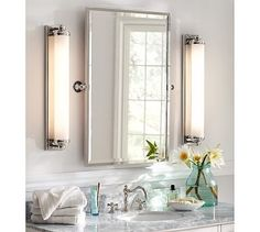 Shop Pottery Barn for expertly crafted bathroom mirror cabinets. Browse our collection of bath mirrors and medicine cabinets and create a stylish bathroom retreat. Bath Furniture, Rectangular Mirror, Small Bathroom Remodel, Brass Bathroom Lighting, Bathroom Mirror, Home Decor, Bathroom Mirror Lights, Medicine Cabinet Mirror, Mirror