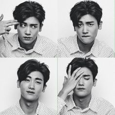 Park Hyung Sik trying out different facial expressions. Park Hyung Sik, Strong Girls, Strong Women, Lee Hyun Woo, Lee Jong Suk, K Pop, Ahn Min Hyuk, Handsome Korean Actors, Park Bo Gum