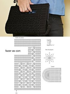 Crochet backpack pattern inspiration / crochet bag from t-shir yarn - Salvabrani