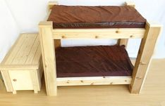 Amazon.com : Large Breed Dog Bunk Bed and Toy Chest. : Pet Supplies
