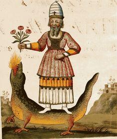 Zoroaster; 18th century alchemical manuscript - Clavis Artis. Biblioteca dell'Accademia Nazionale dei Lincei, Roma, vol. 1...