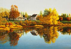beautiful calm autumn day in Murray Harbour, Prince Edward Island Beautiful Islands, Beautiful World, Beautiful Places, Amazing Places, Red Sand Beach, Atlantic Canada, Visit Canada, Autumn Scenery, Prince Edward Island